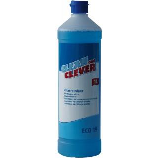 CLEAN & CLEVER Eco19 Glasreiniger 1 Liter blau