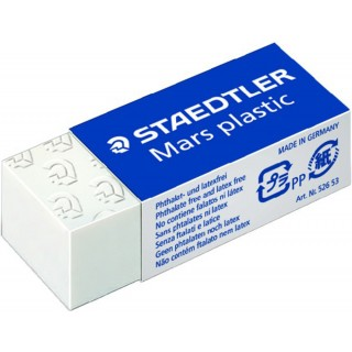 STAEDTLER Kunststoff-Radierer Mars Plastic weiß