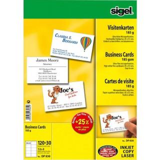 SIGEL Visitenkarten 150 Stück 185 g/m² weiß