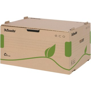 ESSELTE Eco Archiv-Container mit Frontdeckel naturbraun
