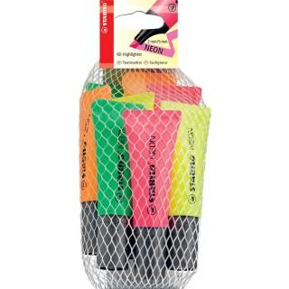 STABILO Neon Textmarker 8 Stück 2x 4 Farben