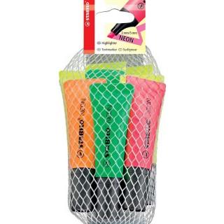 STABILO Neon Textmarker 8 Stück mehrere Farben