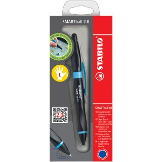 STABILO Smartball 2.0 Kugelschreiber für Linkshänder schwarz/blau