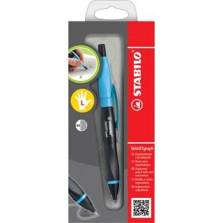STABILO Smartgraph Druckbleistift für Linkshänder schwarz/blau