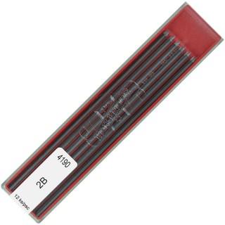KOH-I-NOOR Bleimine 2 mm 2B 12 Stück graphit