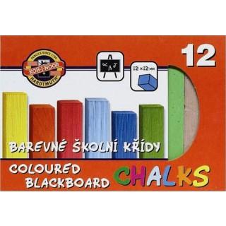 KOH-I-NOOR Tafelkreide 12 Stück mehrere Farben