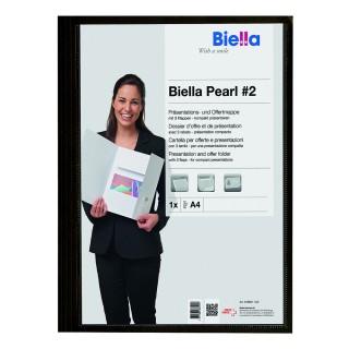 BIELLA Präsentationsmappe Pearl A4 schwarz