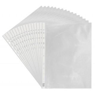 BIELLA Klarsichthüllen 100 Stück A4 mit Lochrand 100 my glatt transparent