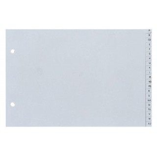 HETZEL Register A-Z aus Kunststoff A5 quer 20-teilig grau