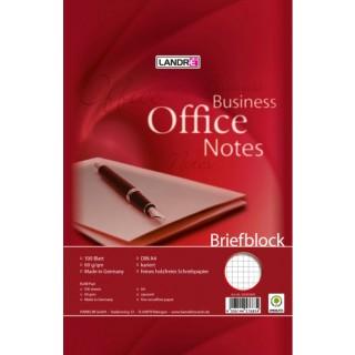 LANDRÉ Briefblock A4 60 g/m2 100 Blatt kariert weiß