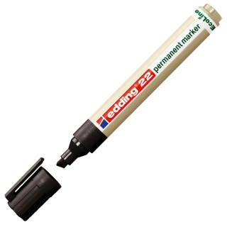 EDDING Permanentmarker EcoLine 22 mit Keilspitze 1-5 mm schwarz