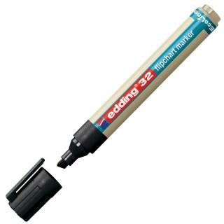 EDDING Flipchartmarker EcoLine 32 mit Keilspitze 1-5 mm schwarz