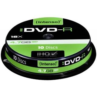 INTENSO DVD-R Rohling 4,7 GB 10 Stück grün