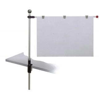 MAUL Planhalter für die Tischplatte silber