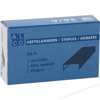 ALCO Heftklammern 507 1000 Stück 26/6 verzinkt
