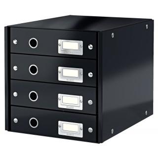 LEITZ Schubladenbox 6049 Click & Store 4 Laden schwarz