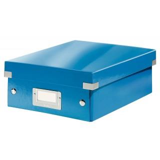 LEITZ Organisationsbox Click & Store 6057 Klein 22 x 10 x 28,5 cm blau-metallic
