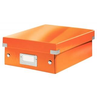 LEITZ Organisationsbox 6057 Click & Store 22 x 10 x 28,5 cm orange metallic