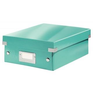LEITZ Click & Store Organisationsbox 6057 Klein 22 x 10 x 28,5 cm eisblau