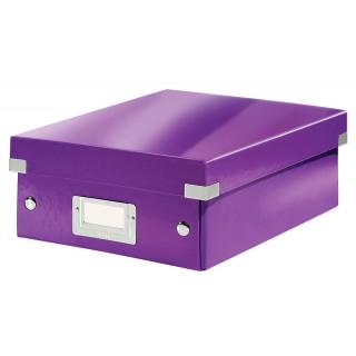 LEITZ Click & Store Organisationsbox 6057 Klein 22 x 10 x 28,5 cm violett-metallic