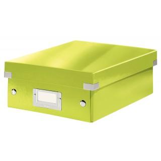 LEITZ Click & Store Organisationsbox 6057 Klein 22 x 10 x 28,5 cm grün-metallic