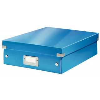 LEITZ Click & Store Organisationsbox 6058 Mittel 28 x 10 x 37 cm blau-metallic