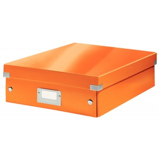 LEITZ Organisationsbox Click & Store 6058 Mittel 28 x 10 x 37 cm orange-metallic