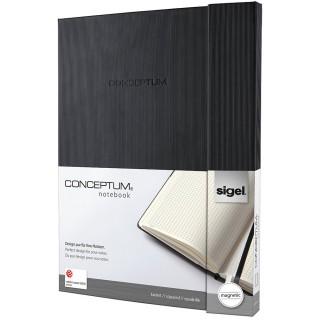 SIGEL Magnet-Notizbuch A4+ 194 Seiten kariert