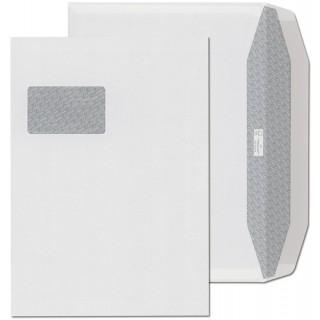 ÖKI Fensterkuvert 250 Stück C4 gummiert mit Trapezverschluss weiß