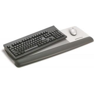 3M™ Handgelenkauflage WR422LE mit Trägerplatte für Tastatur und Maus grau/schwarz