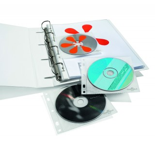 DURABLE CD/DVD-Hüllen 10 Stück transparent
