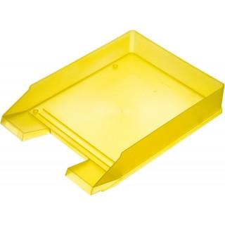 HELIT Briefkorb A4 gelb transluzent