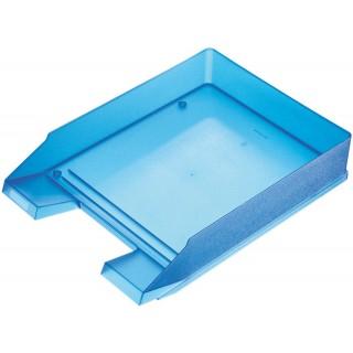 HELIT Briefkorb A4 blau transluzent