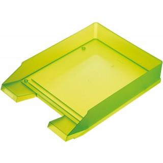 HELIT Briefkorb A4 grün transluzent