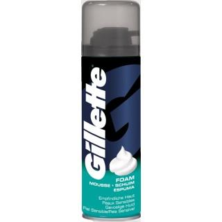 GILLETTE Rasierschaum für empfindliche Haut 200 ml blau