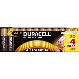 "DURACELL Batterien ""Plus Power"" AA 20+4 gratis"