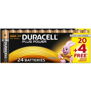 "DURACELL Batterien ""Plus Power"" AAA 20+4 gratis"