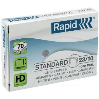 RAPID Heftklammern 23/10 verzinkt 1.000 Stück silber