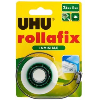 UHU Klebebandabroller Rollafix inkl. Nachfüllung 36970 25x19mm unsichtbar