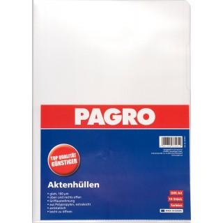 PAGRO Aktenhülle 10 Stück A4 160µ glatt transparent