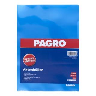PAGRO Aktenhülle A4 160µ 10 Stück blau