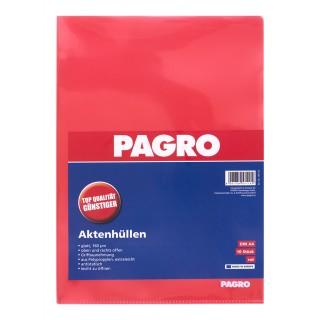 PAGRO Aktenhülle A4 160µ 10 Stück rot