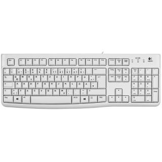 LOGITECH Tastatur mit USB-Anschluss weiß
