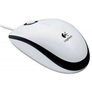 LOGITECH Maus M100 mit USB-Kabel weiß