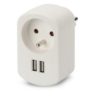 EDNET Power USB-Ladeadapter 3,1A weiß