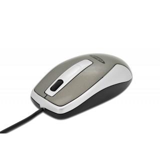 EDNET Optische Office Maus mit USB-Kabel grau