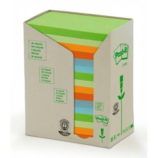 POST-IT Recycling Haftnotizen 655-1RPT 127 x 76 mm 16 Stück Pastelltöne