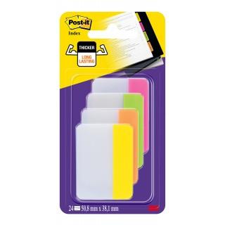 POST-IT Index Strong Haftnotizen 38 x 50,8 mm 4 x 6 Stück mehrere Farben