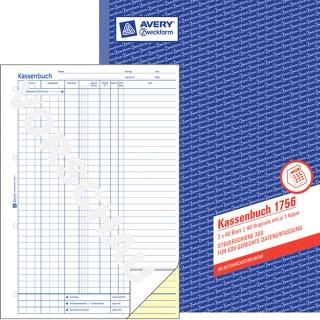AVERY ZWECKFOM Kassabuch A4 2 x 40 Blatt blau