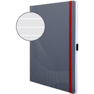 AVERY ZWECKFORM Notizbuch notizio 7020 mit Softcover DIN A4 80 Blatt 90g/m² liniert grau